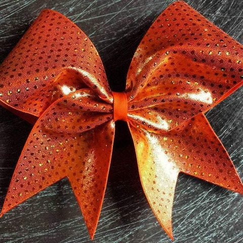 Orange with Holographic Dots Cheer Bow