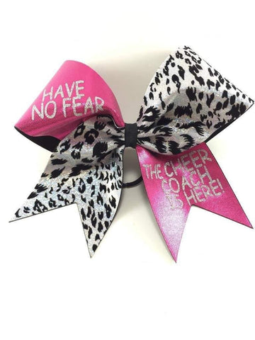 Coach Pink and Cheetah Print Cheer Bow