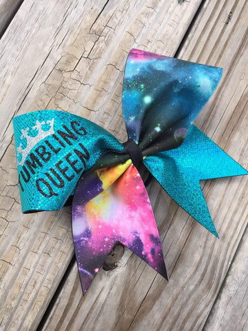 Tumbling Queen Cheer Bow