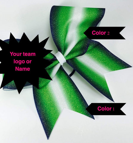 Double Ombre Glitter Cheer Bow