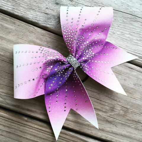 Aliza Rhinestone Cheer Bow in Fuchsia