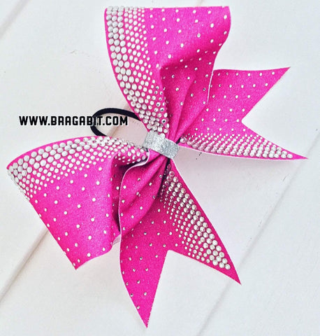 Amber Rhinestone Cheer Bow
