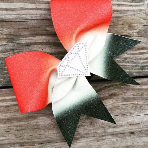 Ombre Diamond Glitter Cheer Bow