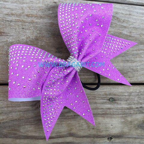 Neon Purple Glitter Bow