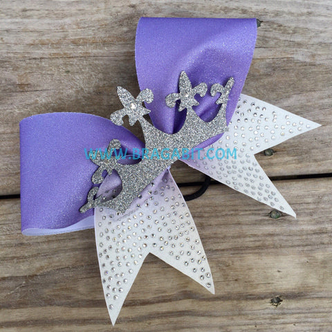 Ombre Bow With A Crown