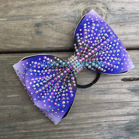 Ombré Multi Size Stones Tailless Bow