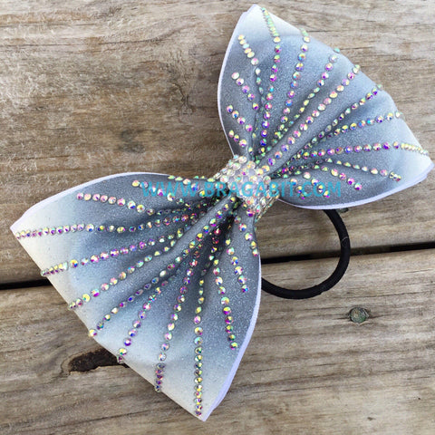 Ombre Tailless Bow In Grey
