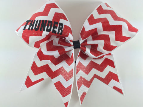 Chevron bow with your name or team name - BRAGABIT  - 1