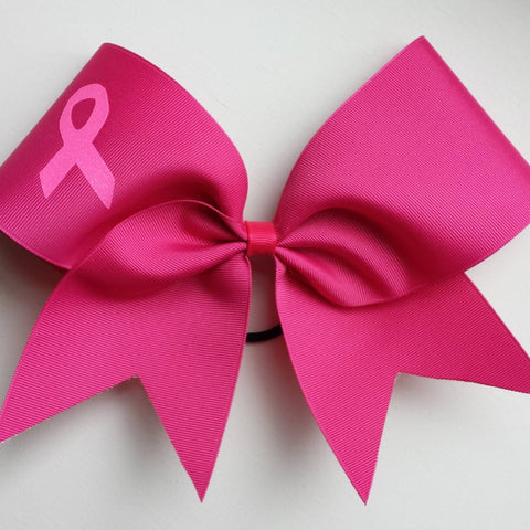 Hot pink breast cancer awareness bow. - BRAGABIT