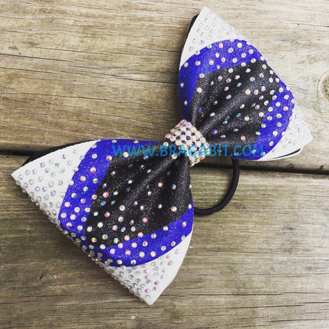 Sublimated Bow With Random Rhinestone Pattern