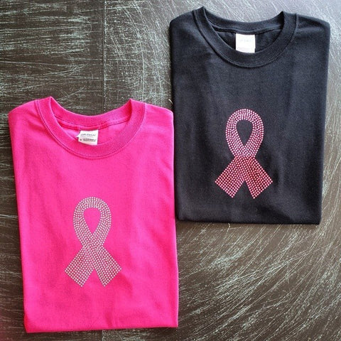 Black, pink t-shirt with clear or pink rhinestones on it. - BRAGABIT