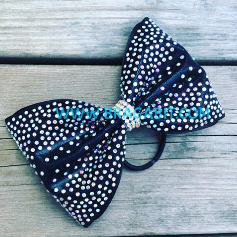 Tailless Bow With Rhinestones Fade From The Sides