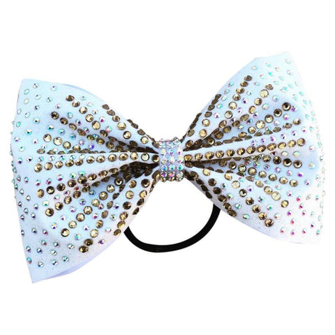 Tailless Glitter Bow With 2 Size Stones.