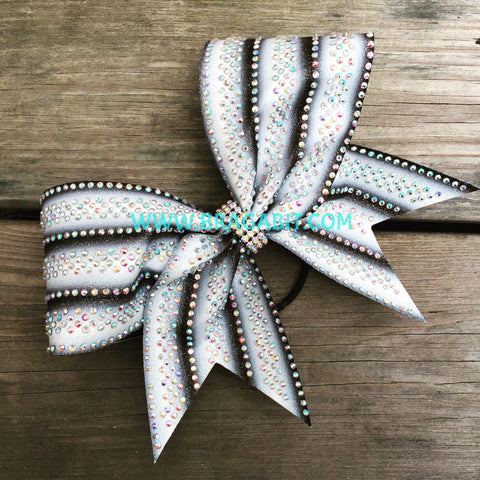 Triple Ombré Bow With Rhinestones