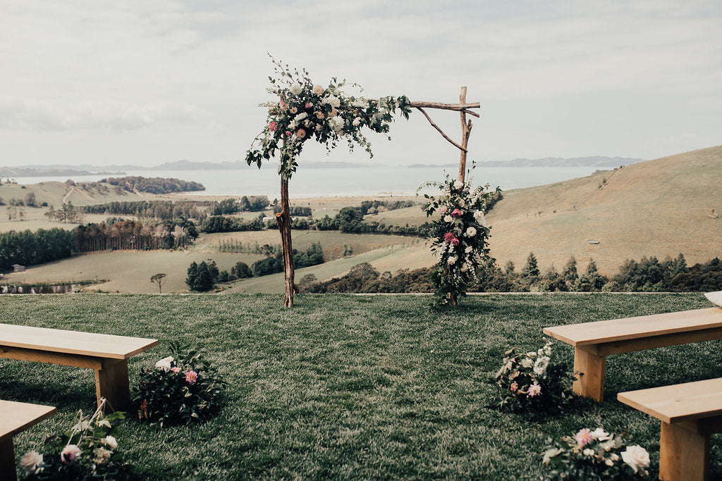 Wedding Arch Kauri Bay Boomrock