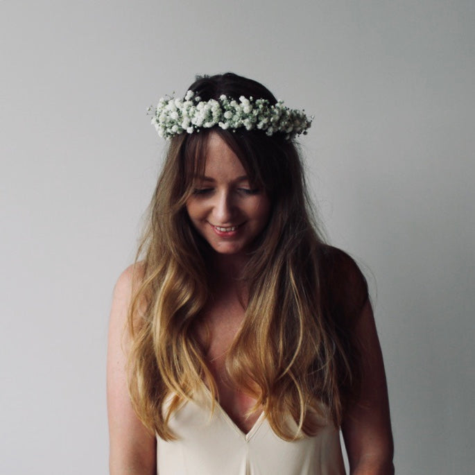 Babys Breath Flower Crown