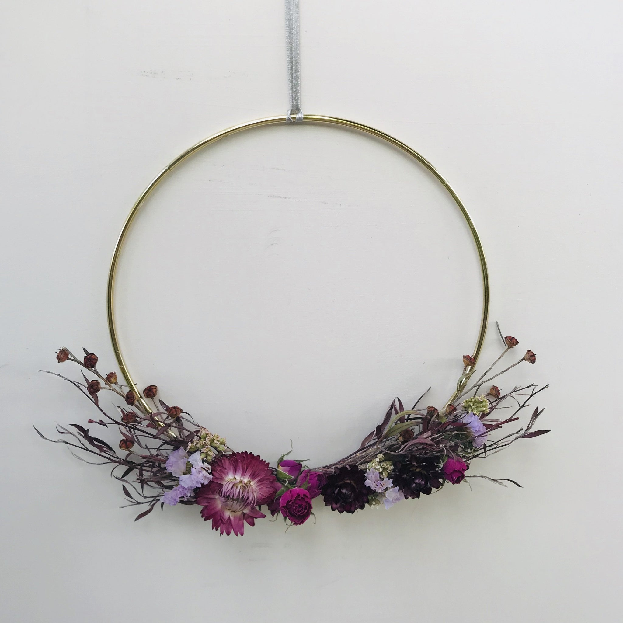 Brass Hoop Wreath