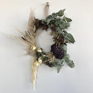 Large Brass Hoop Wreath