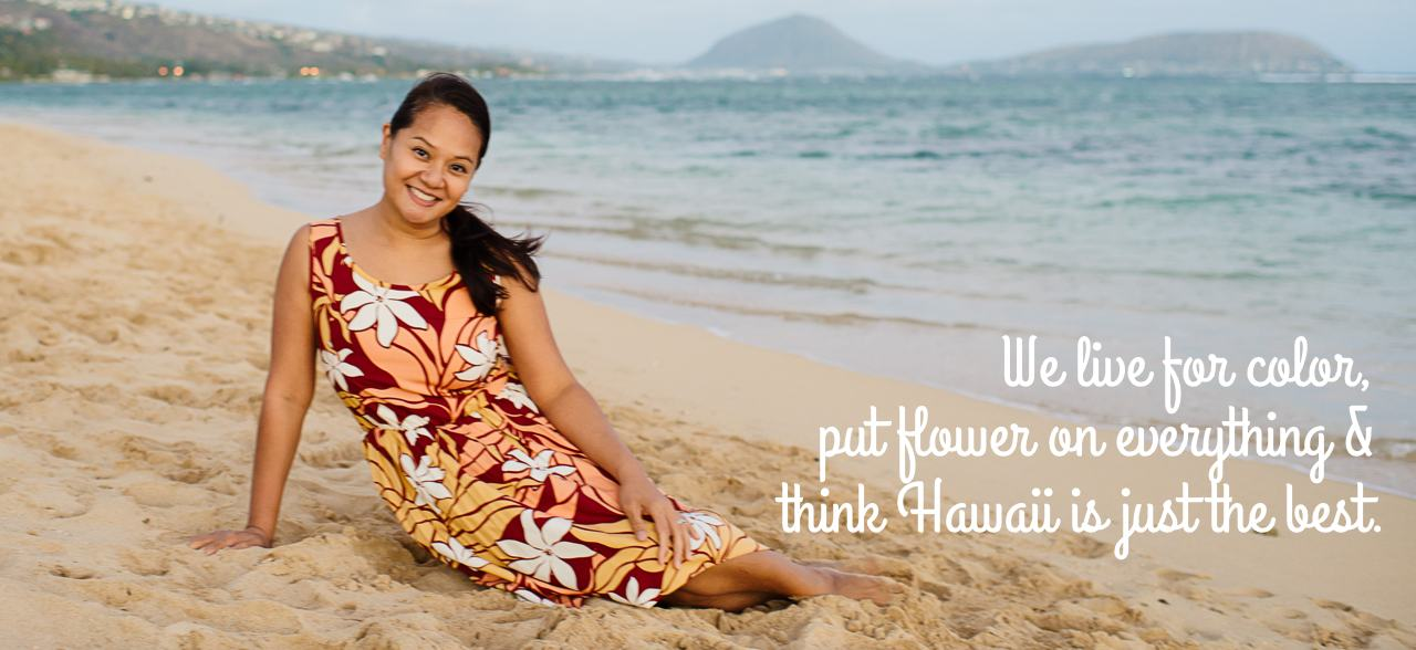 Hawaiian Mid-length Floral Summer Dresses