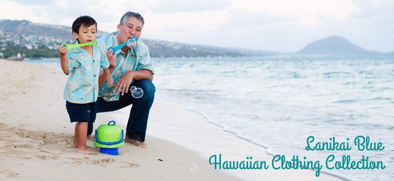 Lanikai Blue - Matching Hawaiian Shirts & Dresses Collection