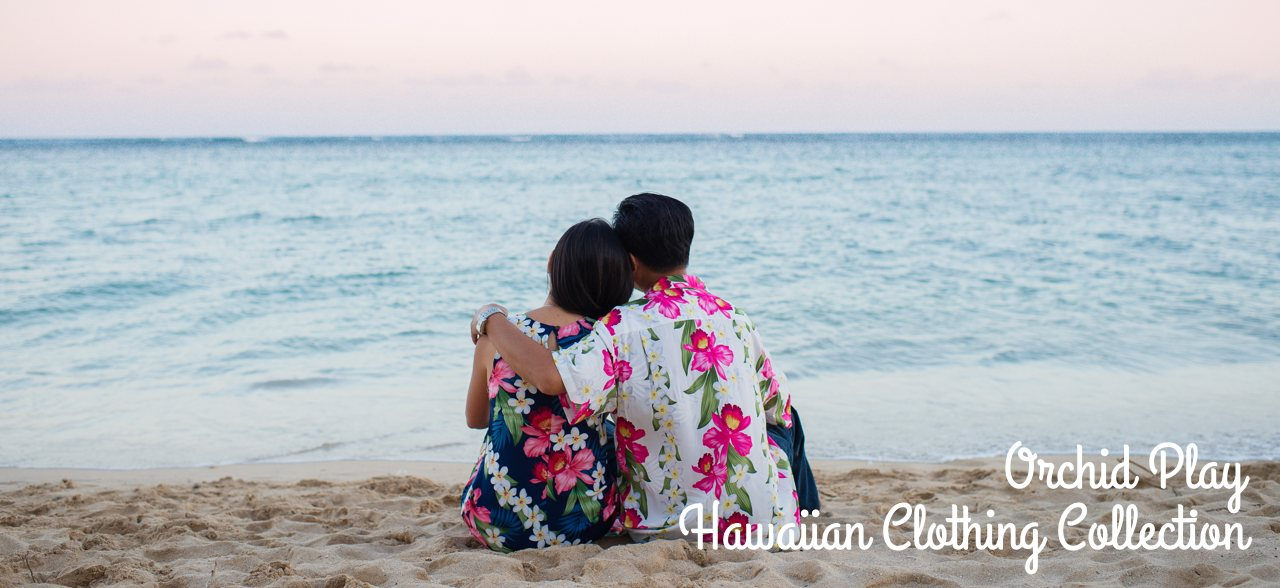 Orchid Play - Matching Hawaiian Shirts & Dresses Collection