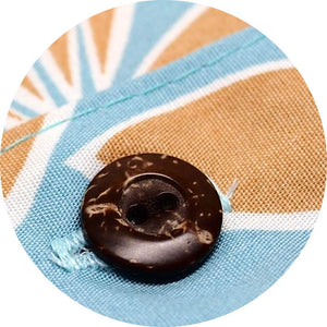 Real Coconut Buttons on Hawaiian Aloha Shirts