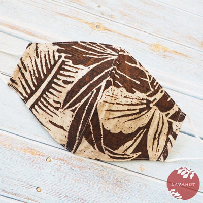 Adjustable Fashion Face Mask • Brown Kahuku - Brown - Face Mask