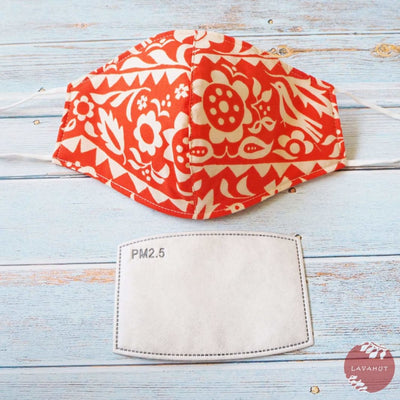 Adjustable + Filter Pocket • Orange Sunrise - Orange - Face Mask