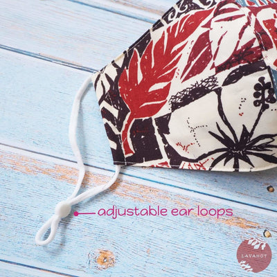 Adjustable Tropical Face Mask • Brown old Hawaii - Brown - Face Mask
