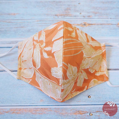 Adjustable Tropical Face Mask • Orange you Glad - Orange - Face Mask
