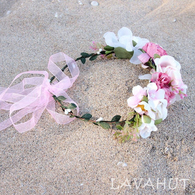 Angelic Blush Flower Crown - Blush - Hair Accessories