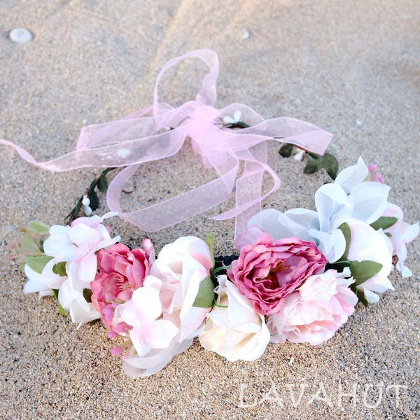 Angelic Blush Flower Crown - Hair Accessories