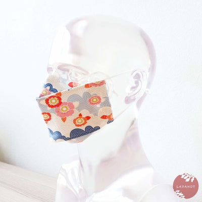 Antimicrobial Silvadur™ + Origami 3d Face Mask • Blue Lazy Days - Blue - Face Mask