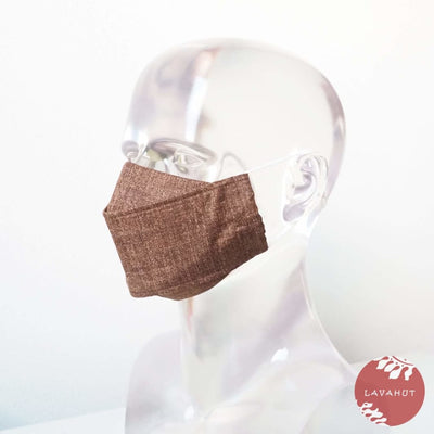 Antimicrobial Silvadur™ + Origami 3d Face Mask • Brown Chambray - Brown - Face Mask
