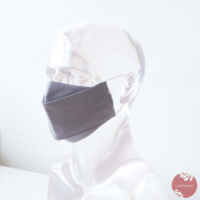 Antimicrobial Silvadur™ + Origami 3d Face Mask • Grey Solid - Grey - Face Mask