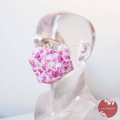 Antimicrobial Silvadur™ + Origami 3d Face Mask • Lilac Orchid Lover - Lilac - Face Mask