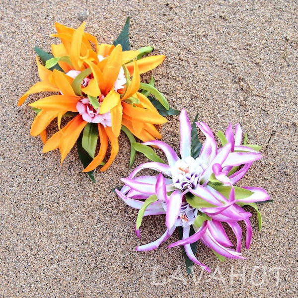 Aster Yellow Hawaiian Flower Hair Clip - Hair Accessories