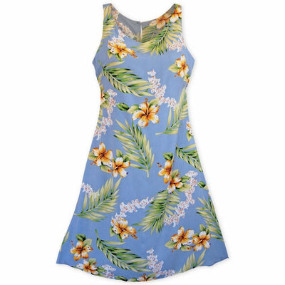 Atoll Blue Fiesta Hawaiian Dress - Women's Dress