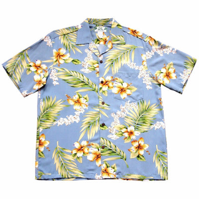 Atoll Blue Hawaiian Rayon Shirt - Men's Shirts