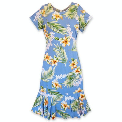 Atoll Blue Laka Hawaiian Dress - s / Blue - Women's Dress