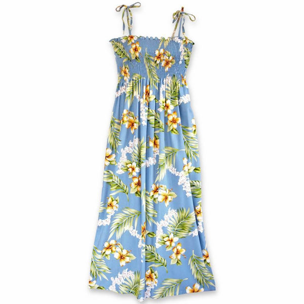 Atoll Blue Maxi Hawaiian Dress - Womens Dress