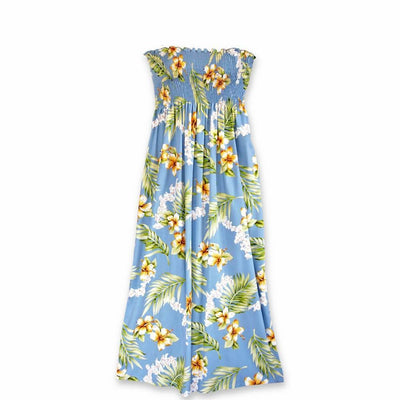 Atoll Blue Maxi Hawaiian Dress - One Size / Blue - Women's Dress