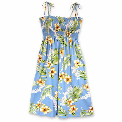 Atoll Blue Moonkiss Hawaiian Dress - One Size / Blue - Women's Dress