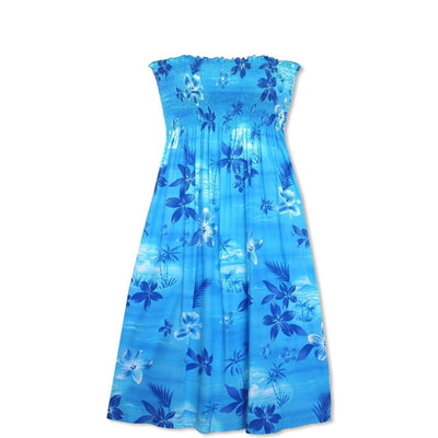 Aurora Blue Moonkiss Hawaiian Dress - One Size / Blue - Women's Dress