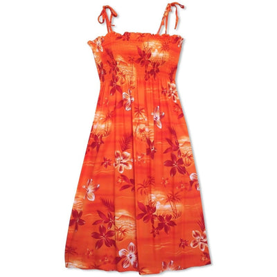 Aurora Orange Moonkiss Hawaiian Dress - One Size / Orange - Women's Dress