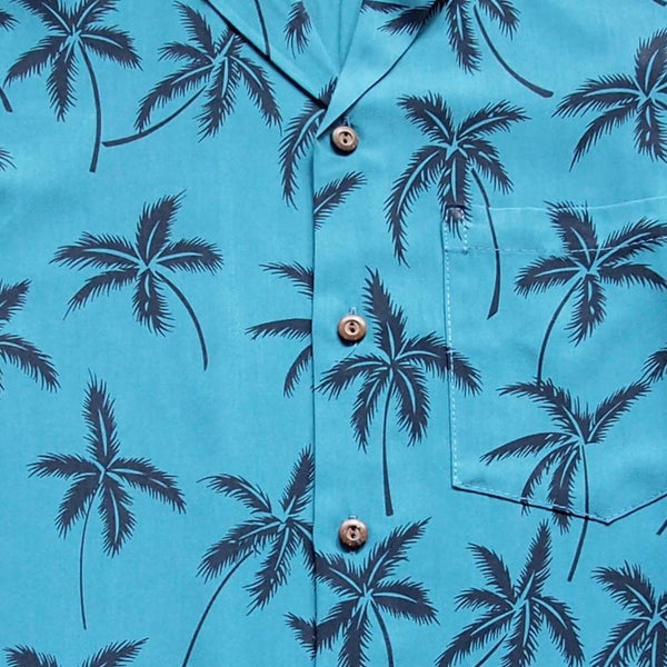 Balmy Blue Hawaiian Rayon Shirt - Mens Shirts