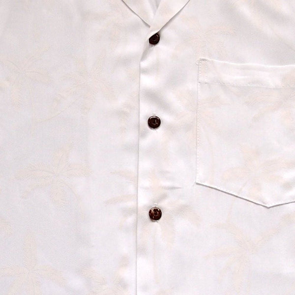 Balmy White Hawaiian Rayon Shirt - Mens Shirts