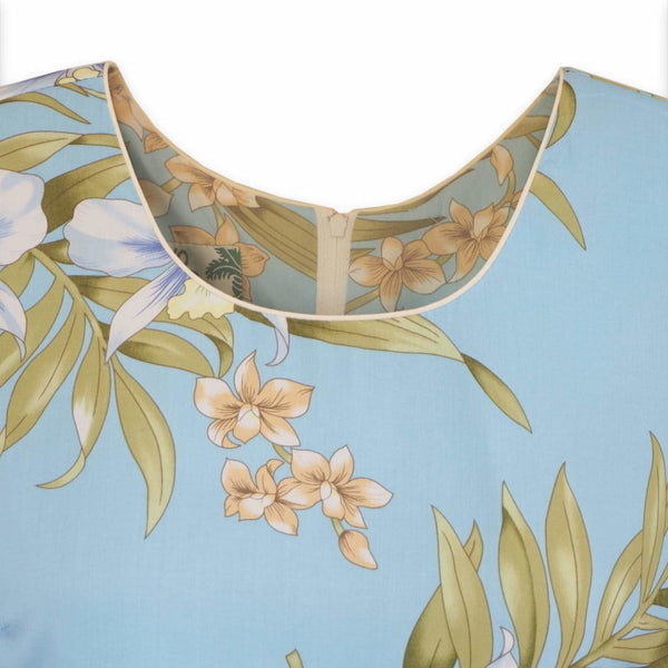 Bamboo Orchid Baby Blue Laka Hawaiian Dress - Womens Dress