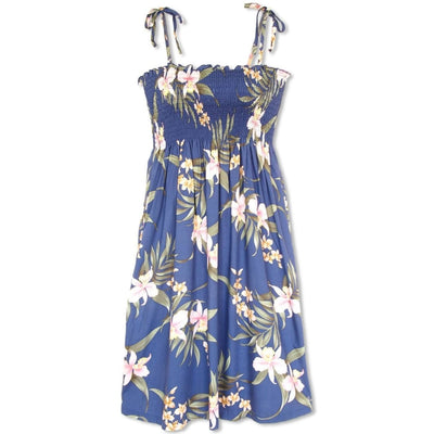 Bamboo Orchid Blue Moonkiss Hawaiian Dress - One Size / Blue - Womens Dress