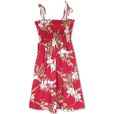 Bamboo Orchid Red Moonkiss Hawaiian Dress - One Size / Red - Women's Dress